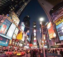 Times Square New York City by Zohar Lindenbaum