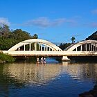 Haleiwa's Historic Bridge by Barbara  Brown