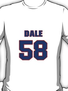 National football player Dale Farley jersey 58 T-Shirt
