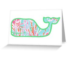 Lilly Pulitzer Whale Jellies Be Jammin Greeting Card