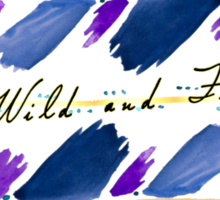 Wild and Free Arrow Watercolor Arrow Painting Sticker