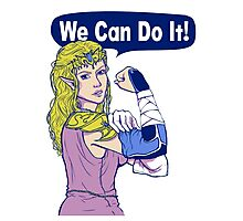 ZELDA - We Can Do It!  Photographic Print