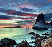 Te Hoho Rock, Flaming Embers by Ken Wright