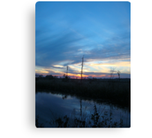 Blue Sky Smilin' at Me (OK so it was sundown) Canvas Print