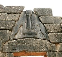 The Lions over the gate at the Mycenean Acropolis by DRWilliams