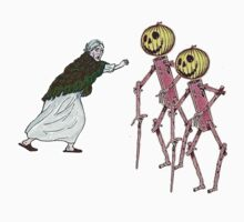 Scarecrows scare the hell out of granny by Gili Orr
