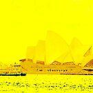 Sydney Opera House, yellow by Kornrawiee