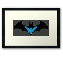 Batman VS Nightwing Framed Print