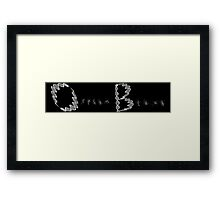DNA Black Framed Print