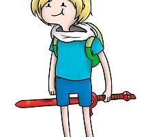 Cute Finn with sword by Adventure time by Baipodo