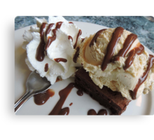 Annette's Brownie and Ice Cream  Canvas Print