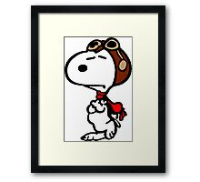 Aviator Snoopy Framed Print