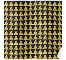 Triangles Black&Gold Poster