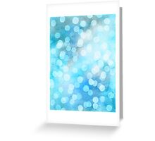 Turquoise Snowstorm - Abstract Watercolor Dots Greeting Card