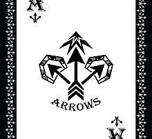 Ace of Clubs Card - Hylian Court Legend of Zelda by sorenkalla
