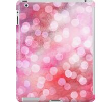 Strawberry Sunday - Pink Abstract Watercolor Dots iPad Case/Skin