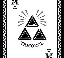 Ace of Spades Card - Hylian Court Legend of Zelda by sorenkalla