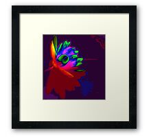 Water lily abstract pop art Framed Print