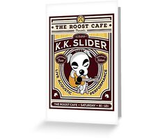 K.K. Slider Gig Poster Greeting Card