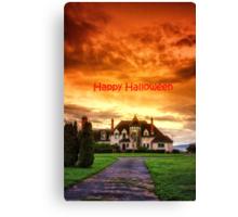 Happy Halloween Castle  Canvas Print