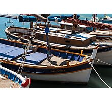 Fishing boats, Cassis, French Riviera Photographic Print