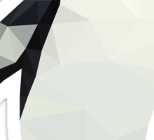 Polygon King Penguin Sticker