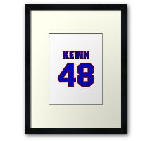 National football player Kevin Ware jersey 48 Framed Print