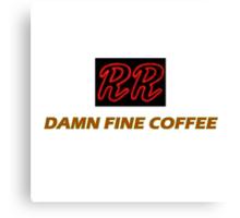 RR - Damn fine coffee Canvas Print