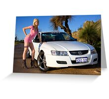 Hot Girls love Hot Cars Greeting Card