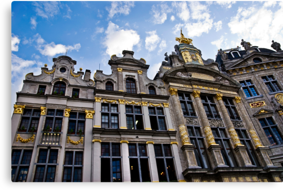Guild Houses - Grand Place - Brussels, Belgium by Alison Cornford-Matheson