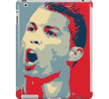 "Cristiano Ronaldo Portrait inspired by the Barack Obama ""Hope"" poster designed by Shepard Fairey. iPad Case/Skin"