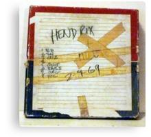 Jimi Hendrix box for original studio master tape Canvas Print
