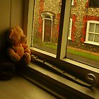 LITTLE TED LOOKING OUT THE WINDOW by ANNETTE HAGGER