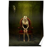 Magical red chair Poster