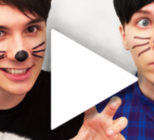 Dan & Phil YouTube Play Button Sticker