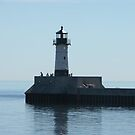 Lighthouse in duluth MN harbor by kodakcameragirl