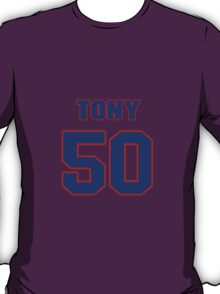 National football player Tony Buford jersey 50 T-Shirt