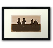#534   Retro Beach Picnic Framed Print