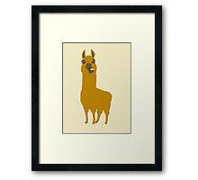 Llama is cool Framed Print