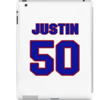 National football player Justin Rogers jersey 50 iPad Case/Skin