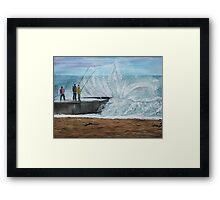 Fishing, Collaroy Beach, Australia, Seascape Framed Print