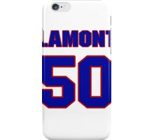National football player Lamont Green jersey 50 iPhone Case/Skin