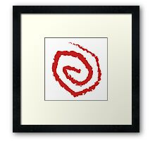 The Yellow Sign (red) Framed Print