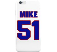 National football player Mike Dennery jersey 51 iPhone Case/Skin