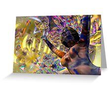 Journey Through the Vortex - 3D art Greeting Card