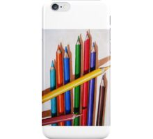 """Color Me Happy"" - realistic still life colored pencils iPhone Case/Skin"