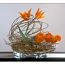 Ikebana-012 Greeting Card by Baiko