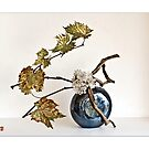 Ikebana-090 Greeting Card by Baiko