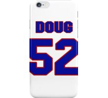National football player Doug Becker jersey 52 iPhone Case/Skin