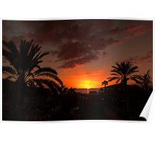 Costa Adeje Sunset Poster